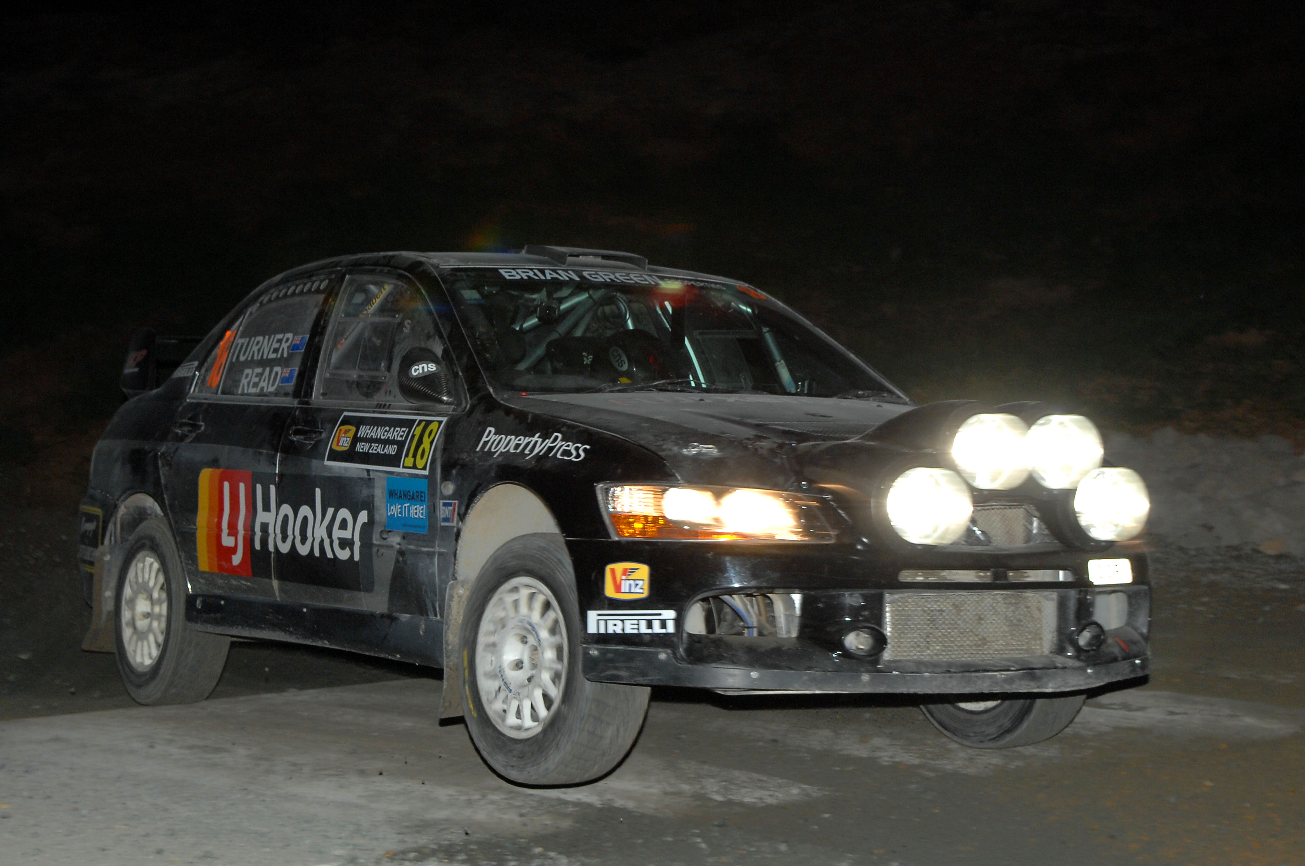 Night of rally action to start International event