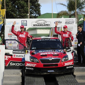 International Rally of Whangarei 2015 podium