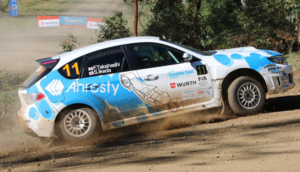 RQ15 - Fuyuhiko Takahashi Ahresty Subaru Impreza 2015 Rally Queensland - APSM_ms
