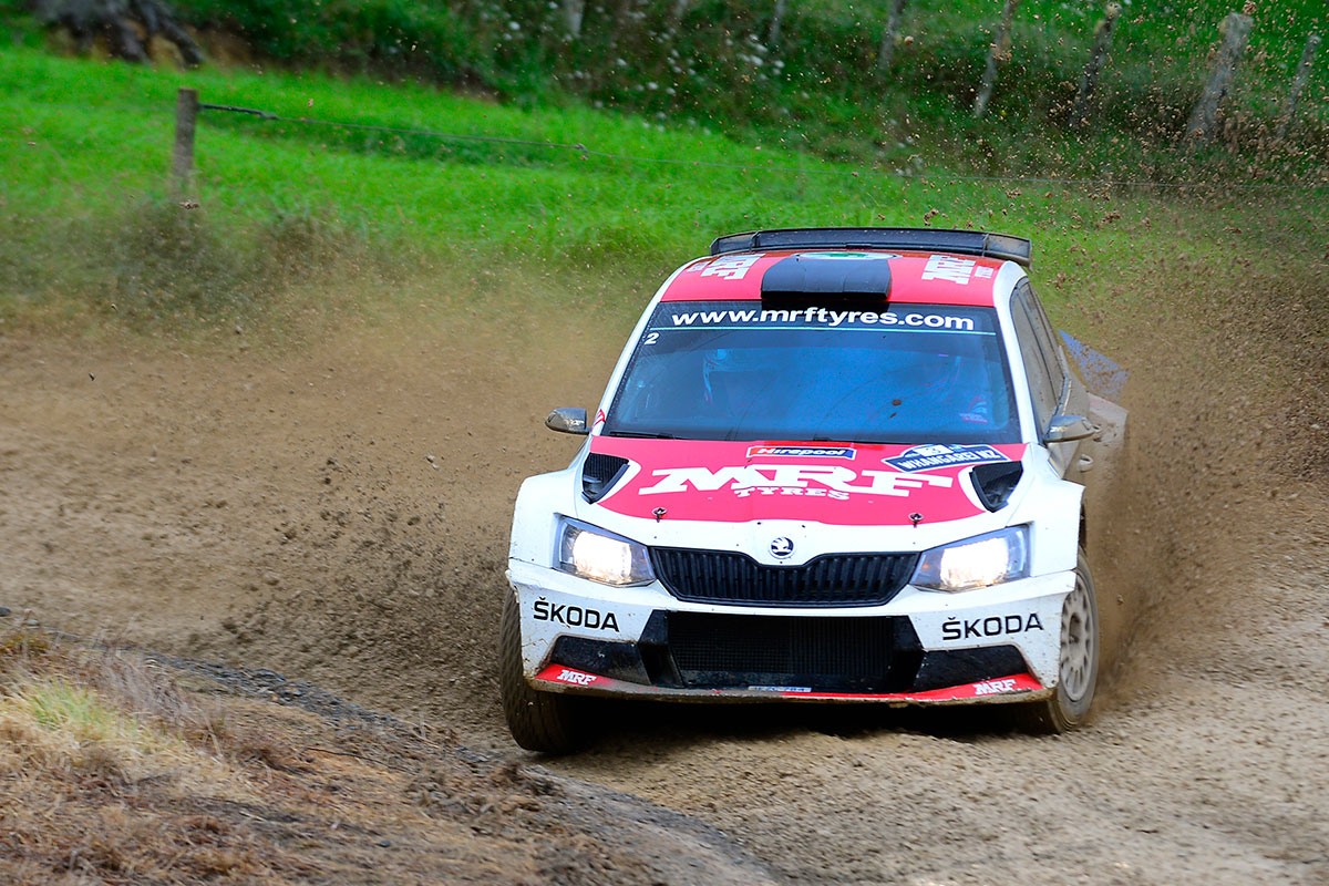 Norwegian's lead of International Rally of Whangarei