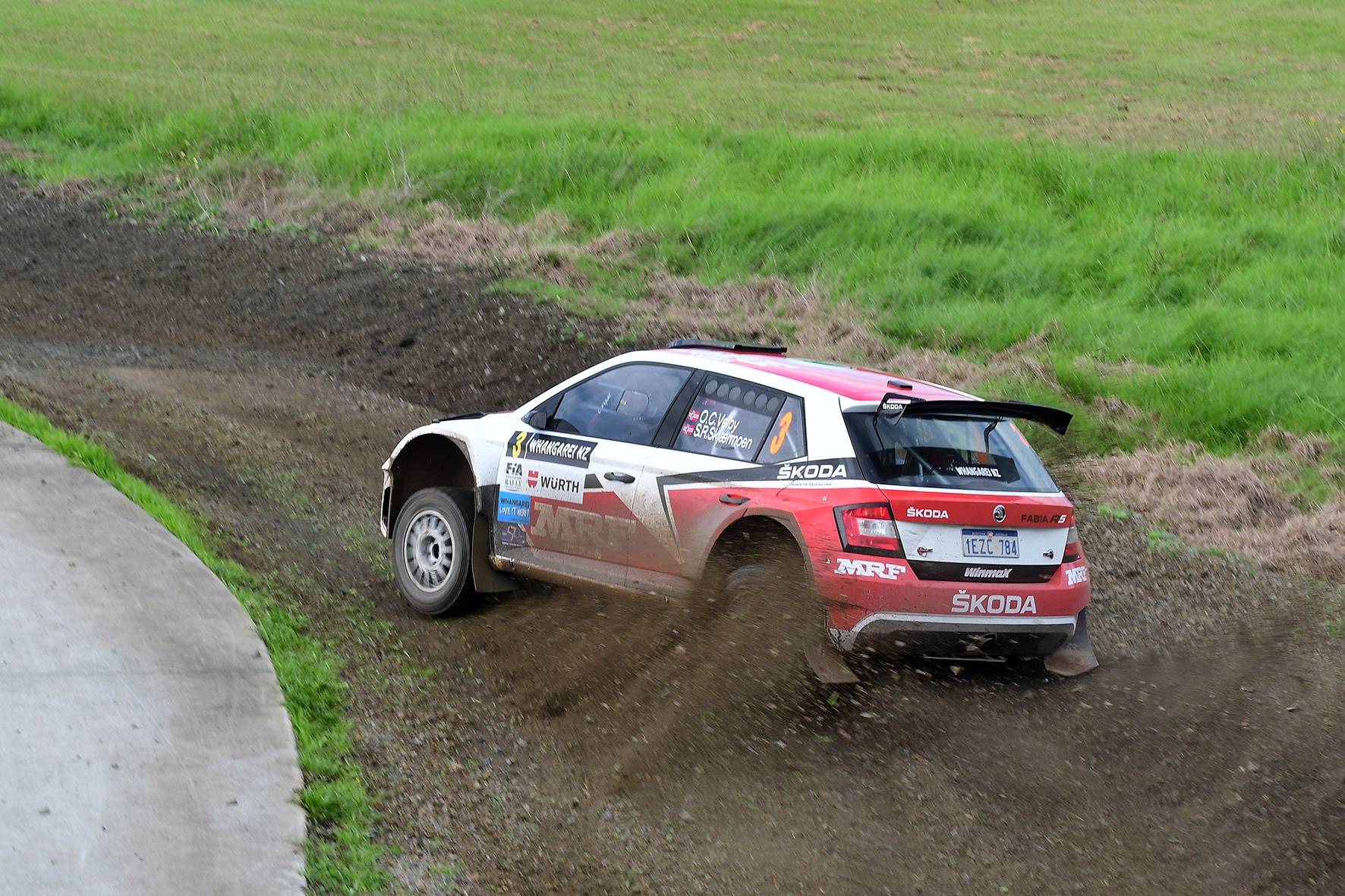 Norwegian pairing top International Rally of Whangarei shakedown