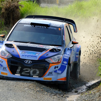 Hayden Paddon - photo by Geoff Ridder