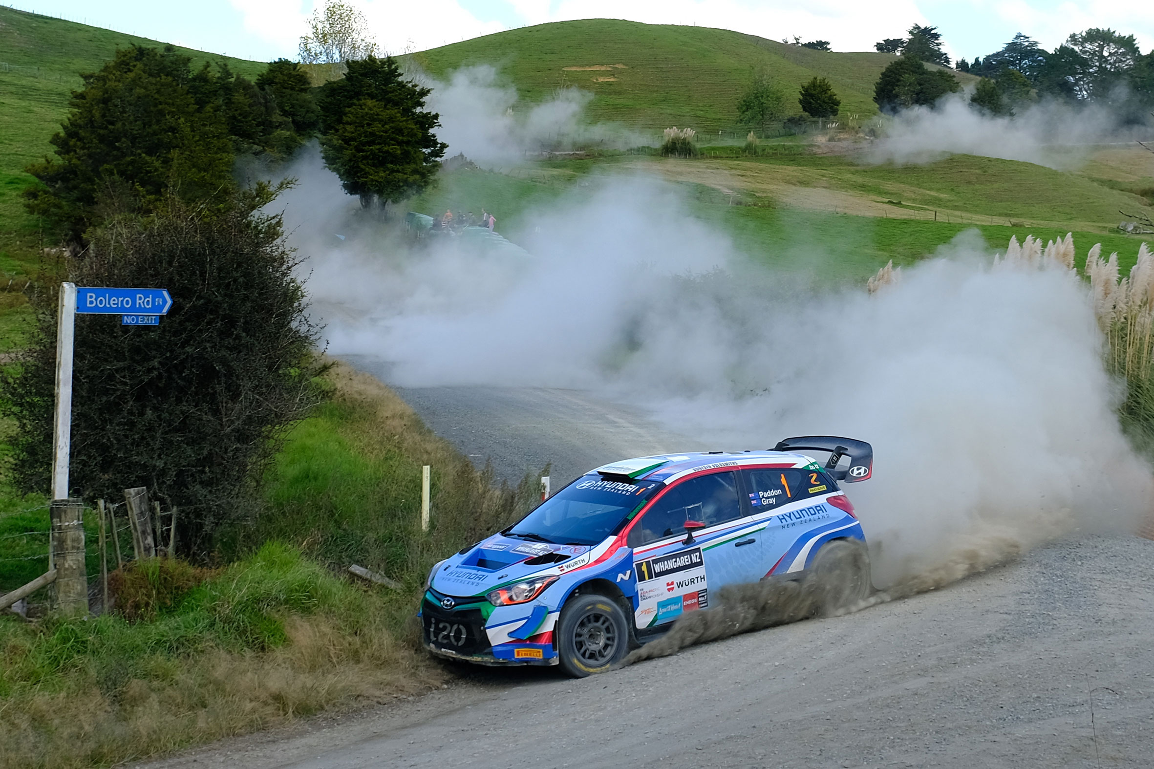 Paddon holds commanding rally lead at day's end